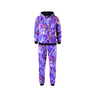 OEM XXXXL High Quality Sublimated Mens Gym Hoodies Sweatshirts Pullover Set with Joggers