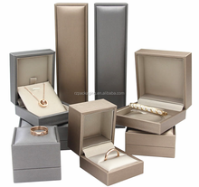 Pu leather wrapping jewelry display box