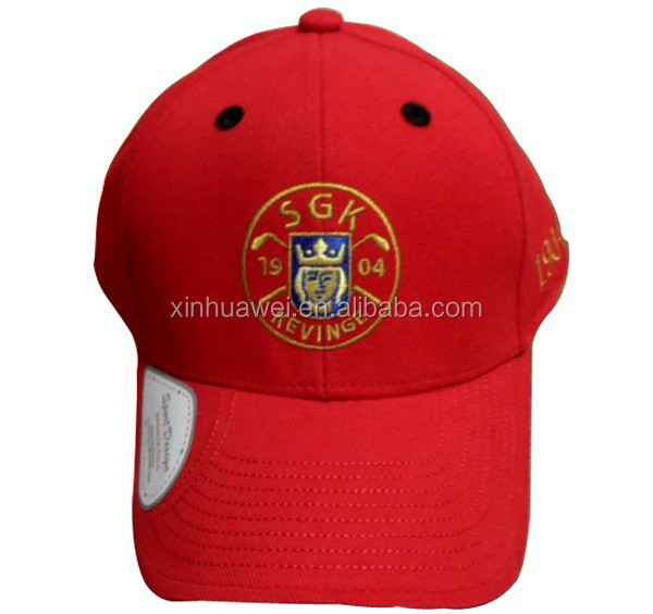fashion design red cotton baseball cap golf hat made in China custom many kinds caps and hats manufacture cap hat