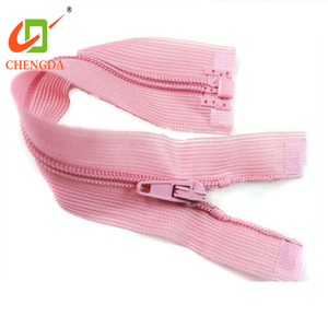 CHENGDA New Arrival 3# 4# 8# Long Chain Dress Invisible Lace Teeth Nylon Tape Zip Zipper