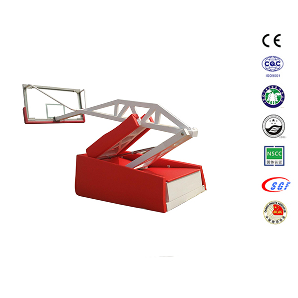 Indoor portable basketball training equip hydraulic basketball stand used electrostatic