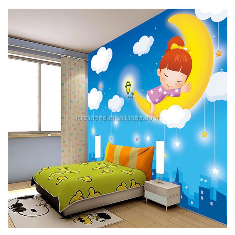 Mural para habitacion habitacin de los nios papel pintado for Papel tapiz infantil
