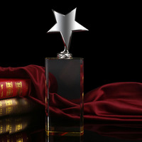 crystal crafts Optical high quality k9 3d laser crystal star trophy