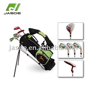 Small size fibre glass shaft 431stainless steel club heads kids mini cheap junior golf sets with stand bag