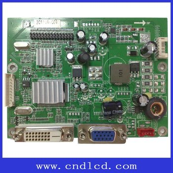 Vga+dvi Lcd Monitor Ad Board With Lvds Interface