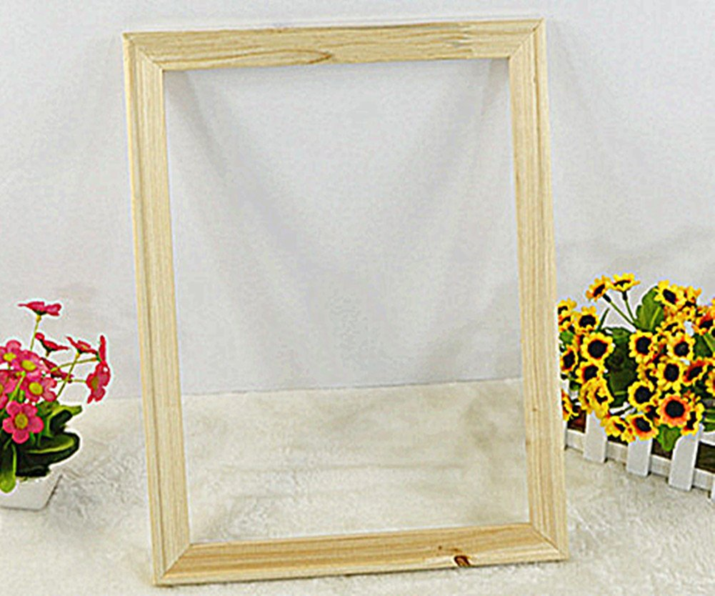 Solid Wooden Frame (4 Sticks a Set) for Oil Painting 1620 inches, 40x50cm - Paint by Numbers Wooden Frame, Diy Oil Painting by Numbers Kits with Thumbtacks