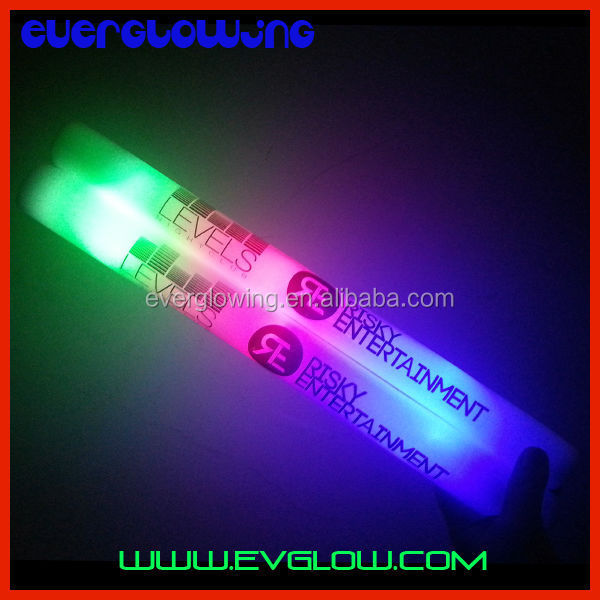 Branded led glow foam sticks customized logo HOT sell 2016