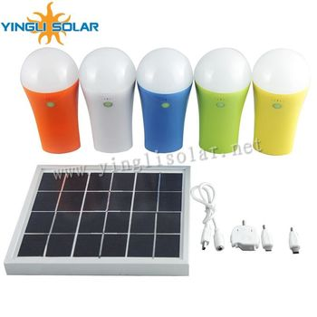High quality 3W 5W Solar lamp energy saving lamp Outdoor/Indoor Solar Powered led Lighting System Light Lamp