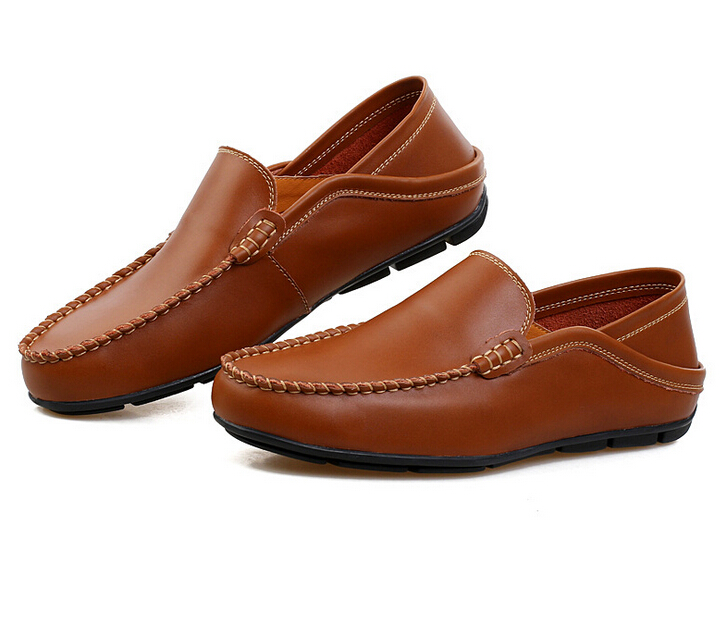 a4b1d6223cc9cb Get Quotations · Mens Shoes Casual Luxury Trend Brown Flat Shoes Genuine  Leather Soft Driving Loafers Shoes Men Sapatos