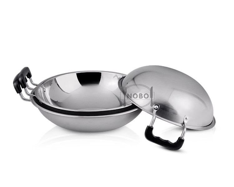 Top quality NOBO flying wok iron saucepans skillet set