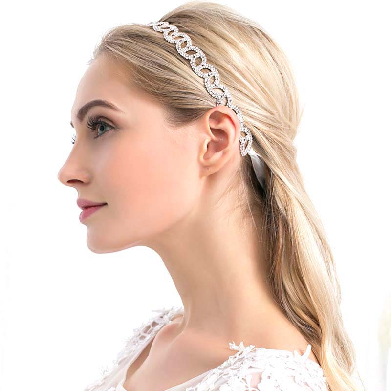 Wholesale handmade baroque hair accessories crystal diamond bride hair tie bridal headband wedding headpiece