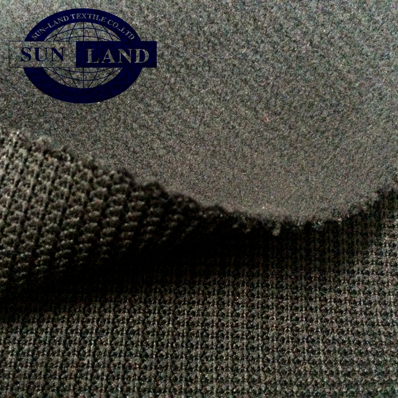 100% polyester the composite rib bonded with polar fleece fabric