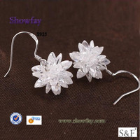 BL731821 square earring thailand silver jewelry