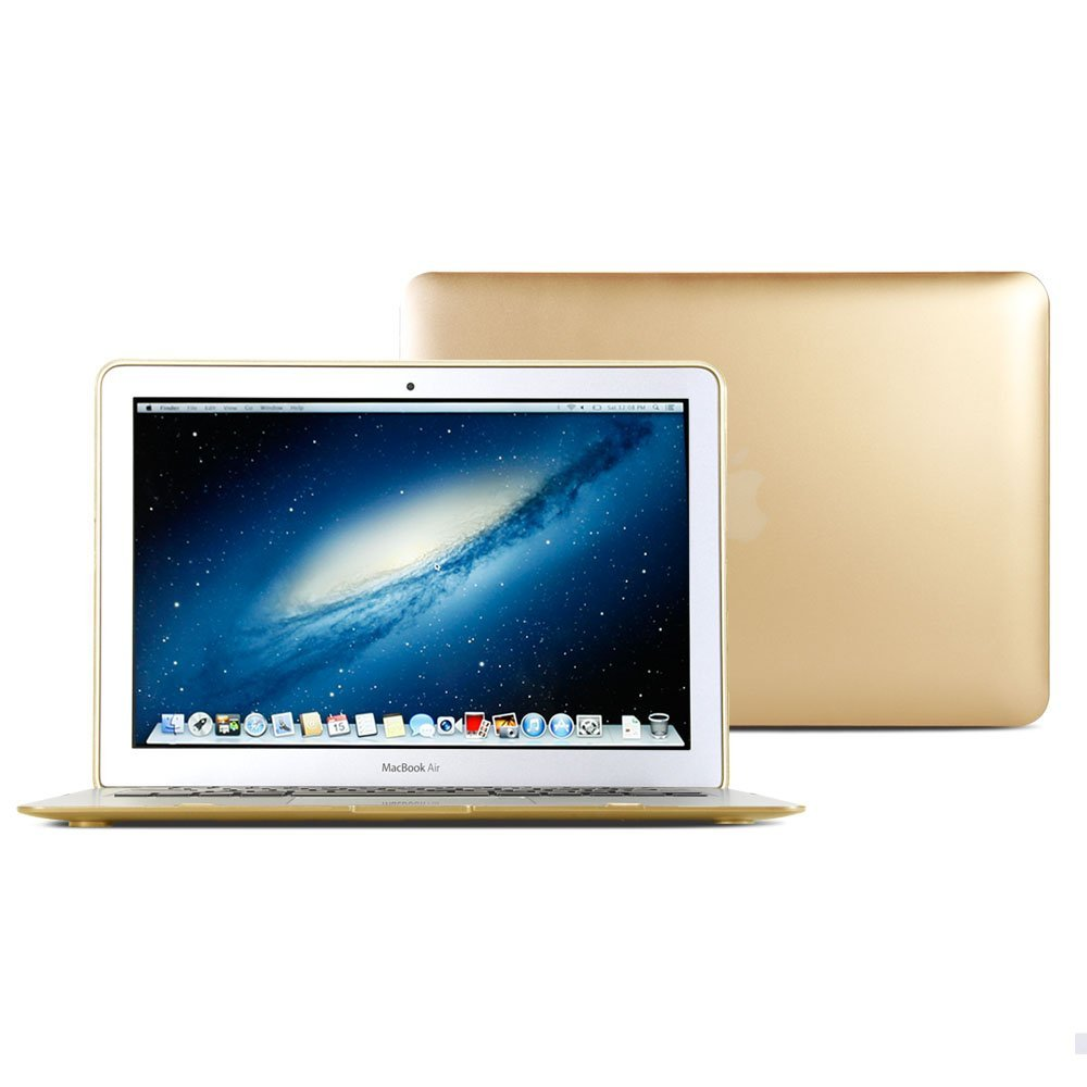 Macbook Air 11 Case, GMYLE Hard Case Metallic Color for Macbook Air 11 inch - Metallic Champagne Gold Polycarbonate Cover