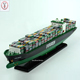 chinese factory custom handmade carved resin container ship model