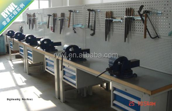 Heavy Duty Metal Garage Workshop Steel Tool Workbench For Electronics Industrial Used