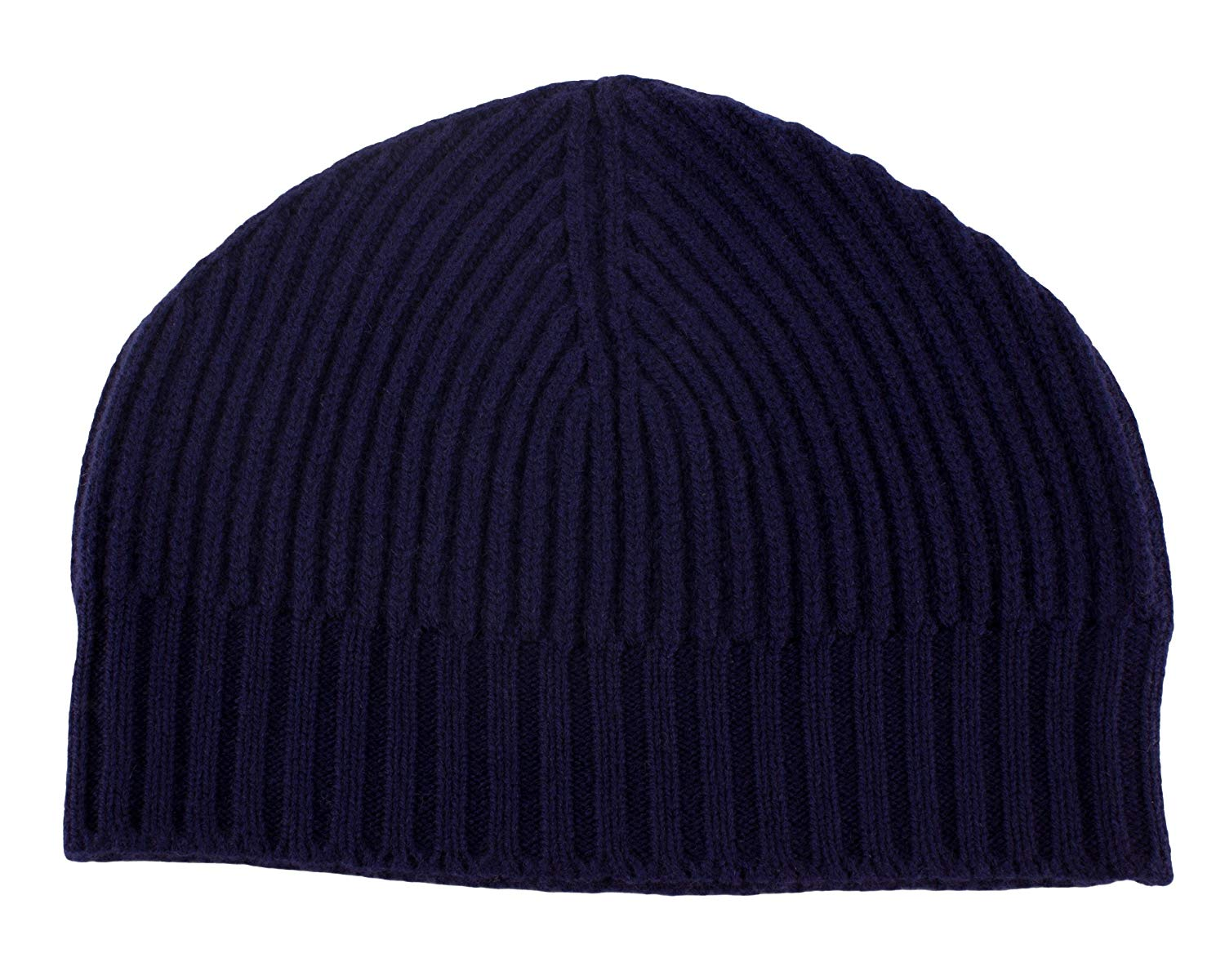 286f2a89c56 Get Quotations · Love Cashmere Mens Ribbed 100% Cashmere Beanie Hat - Navy  Blue - Made in Scotland