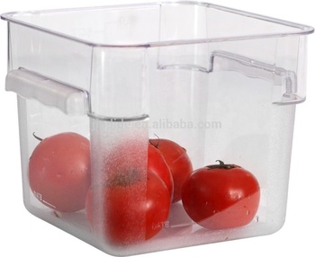 NSF SGS Listed Plastic PP PC Square Food Storage Containers With Lids