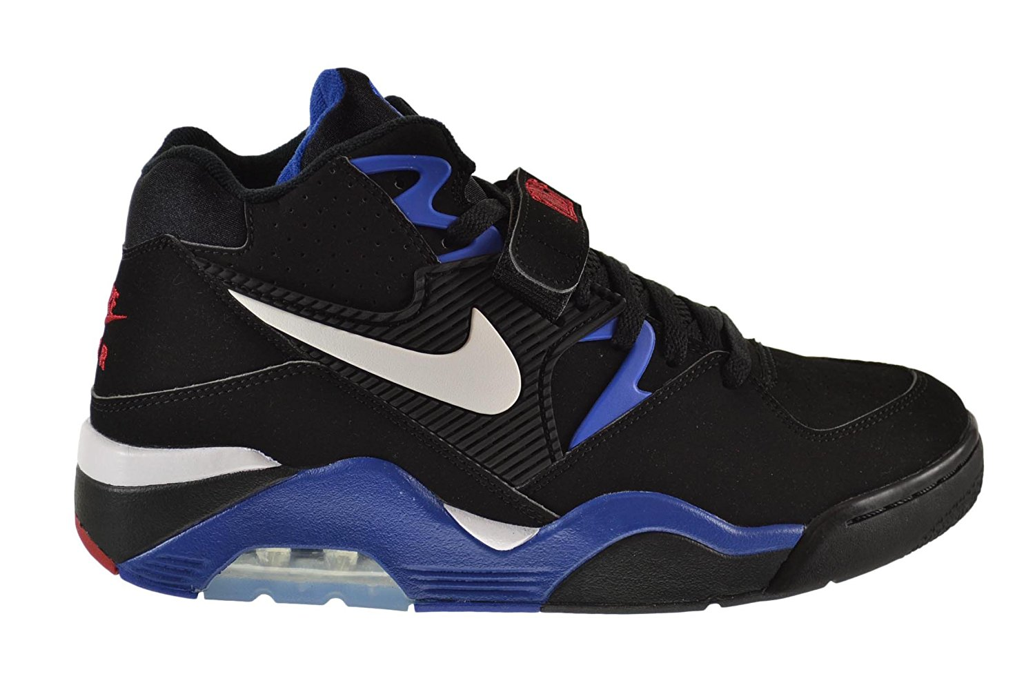f80f432b4c Get Quotations · Nike Air Force 180 Men's Shoes Black/White-Sport  Royal-Varsity Red 310095