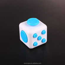 2017 Newest toy Vinyl Desk Toy Fidget Cube colors fidget six cube