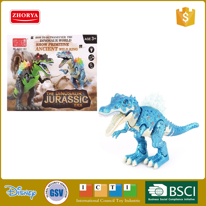 Zhorya HQ Cool B/O walking dinosaur toys 2 colors new battery operated dinosaur with light and music