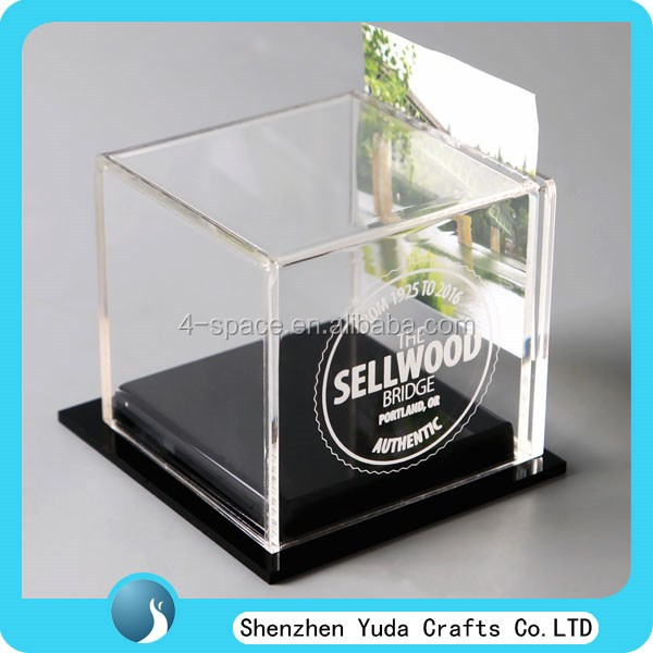 Acrylic Trinket Boxes : Custom created printed personalized clear acrylic keepsake