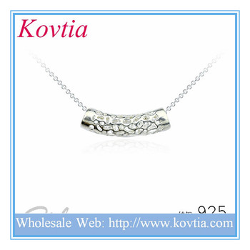 925 Sterling Silver Price Per Gram Chain Necklace With Hollow Pendant