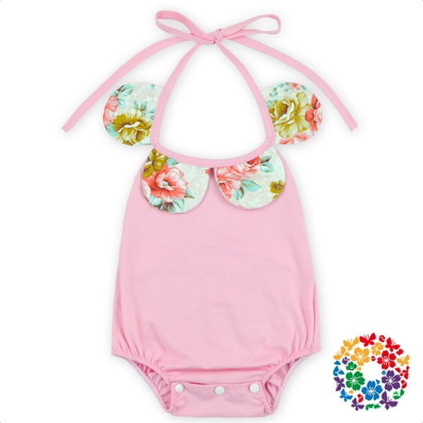 096ee41cd8b Stripe Patterns Baby Girls Halter Rompers Infant Organic Cotton Romper One  Piece