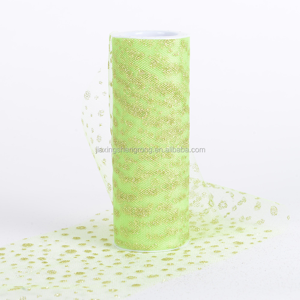 apple green color 25cm*100 yards bridal veil tulle fabric
