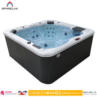 China manufacturer indoor & Outdoor whirlpool spa tub 6 person hot tubs