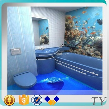 Factory Wholesale Hot Peoduct 3d Vinly Bathroom Flooring Epoxy
