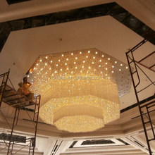 Modern design wedding centerpieces hotel project lighting big chandelier