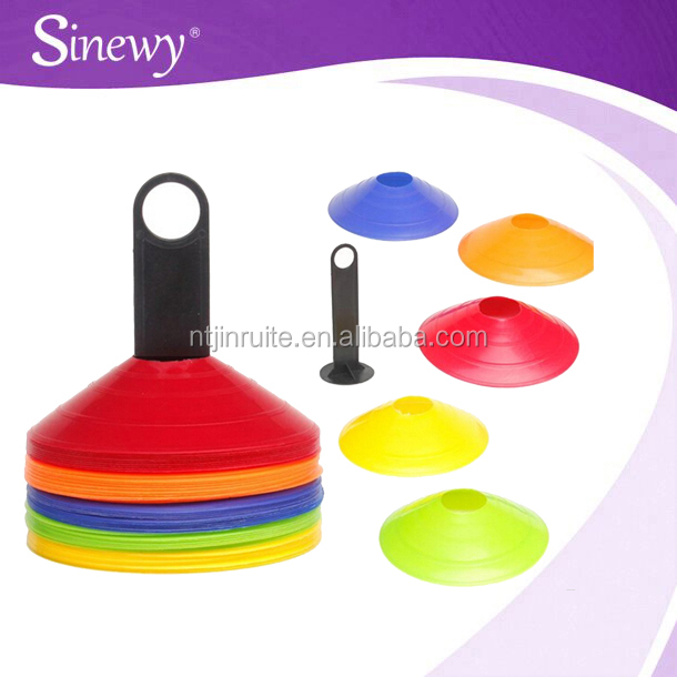 Nantong factory plastic sport soccer cones markers for football equipment