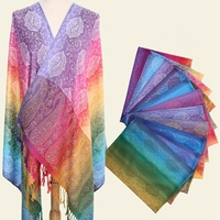 2018 Newest Spring Tassel Scarf Fashion Towel Digital Printed Pashmina Scarf