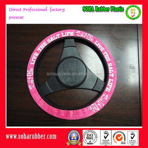 colorful pink steering wheel cover