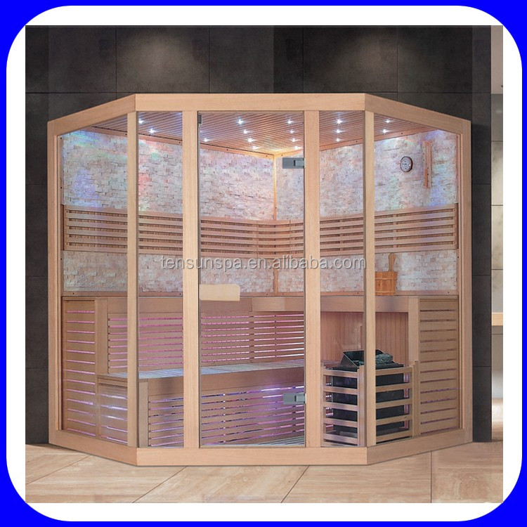 3~4 person traditional stone dry steam sauna room