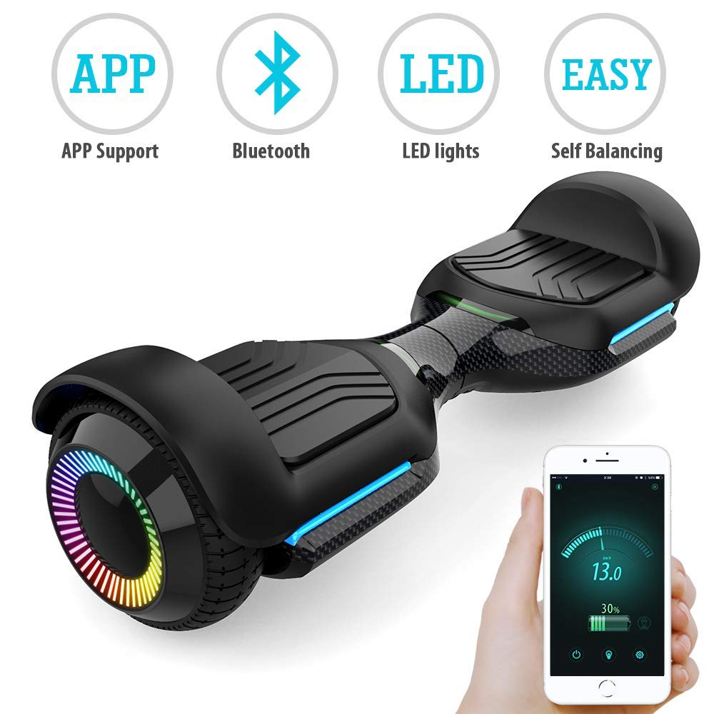 Magic hover Swift 6.5 inch Flash Wheel Hoverboard with Bluetooth Speaker and LED Lights, UL2272 Cetified Self Balancing Scooter 2018