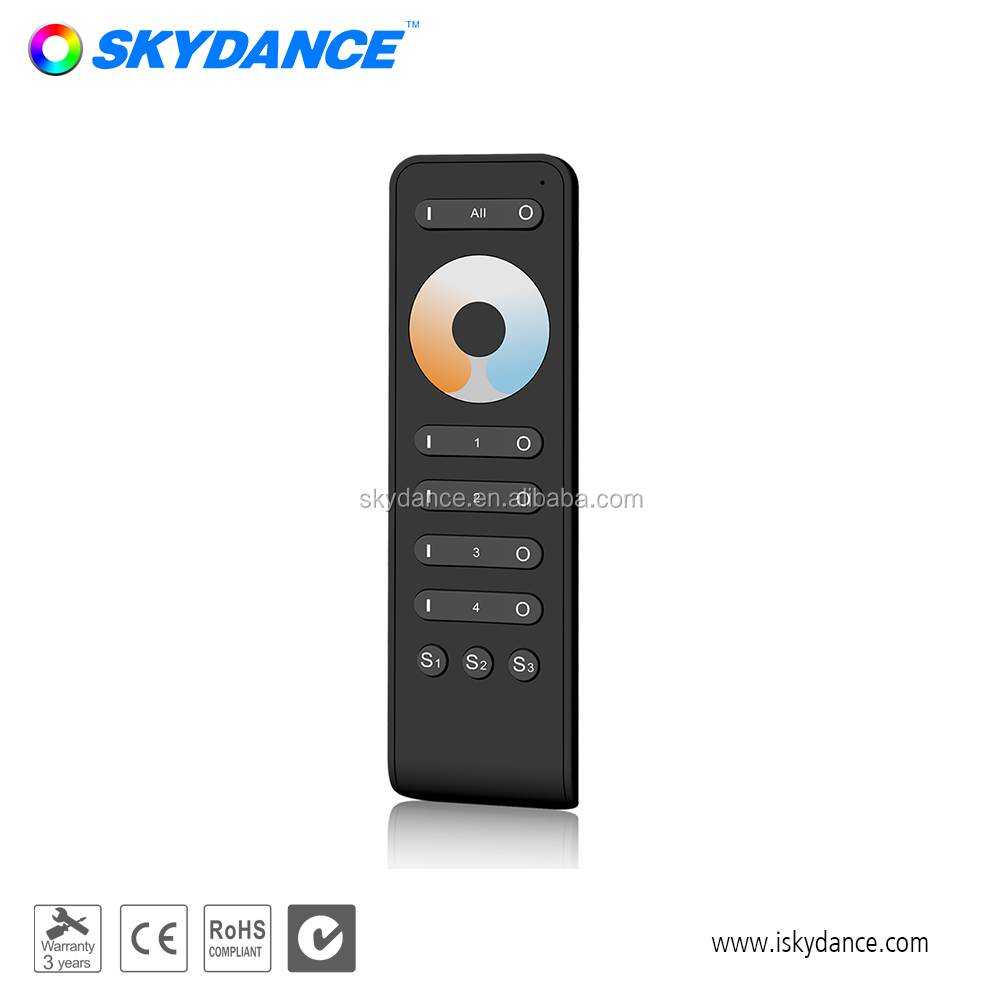 New 4 zone Color Temperature RF remote control with magnet holder, View rf  led controller, Skydance Product Details from Guangzhou Skydance Lighting
