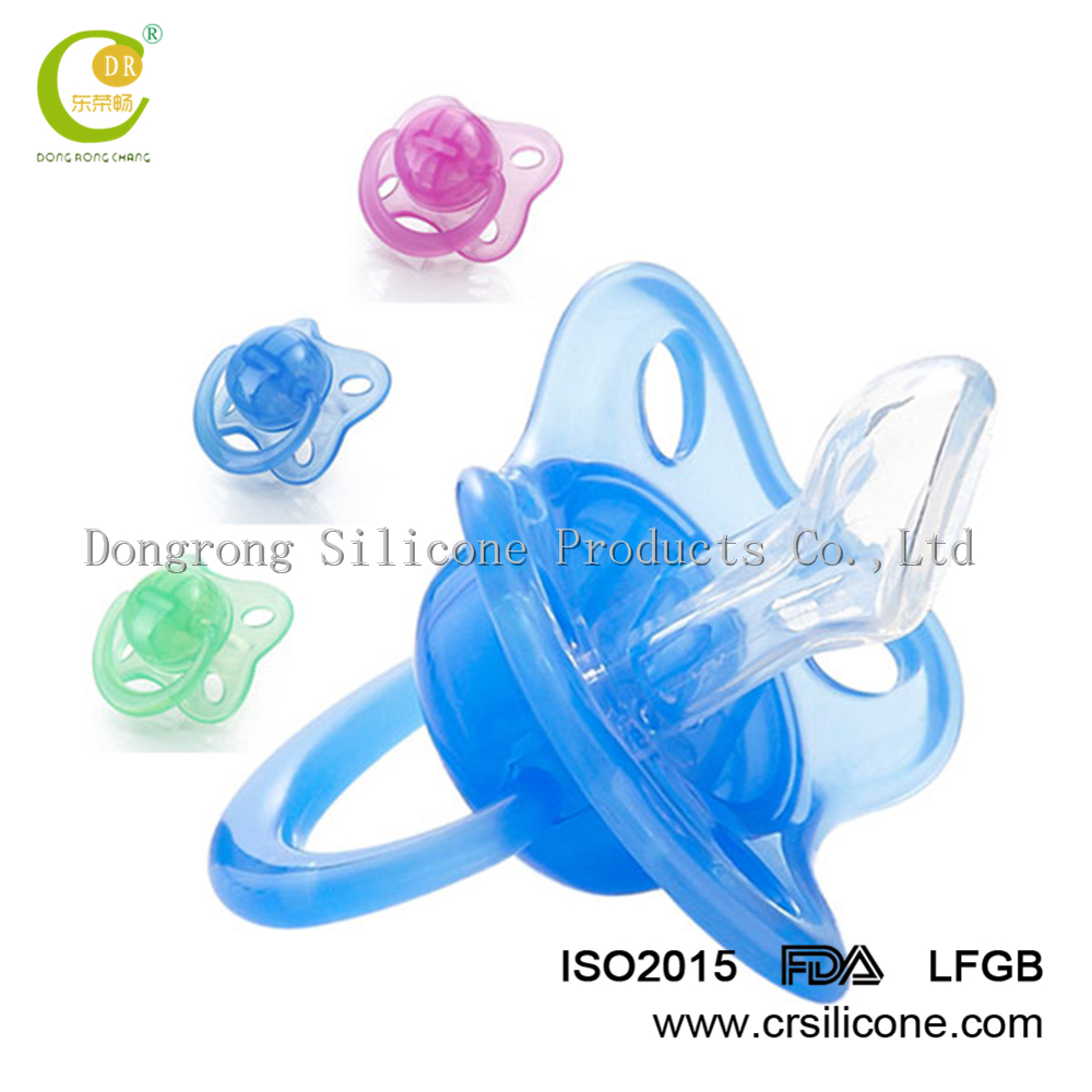 High quality transparent safety silicone feeding baby nipple, silicone nipple