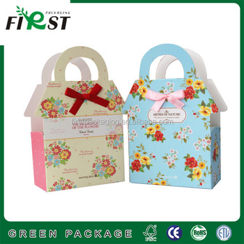 Cartoon Paper Printed Cut Gift Bags Handle Ping Christmas Bag