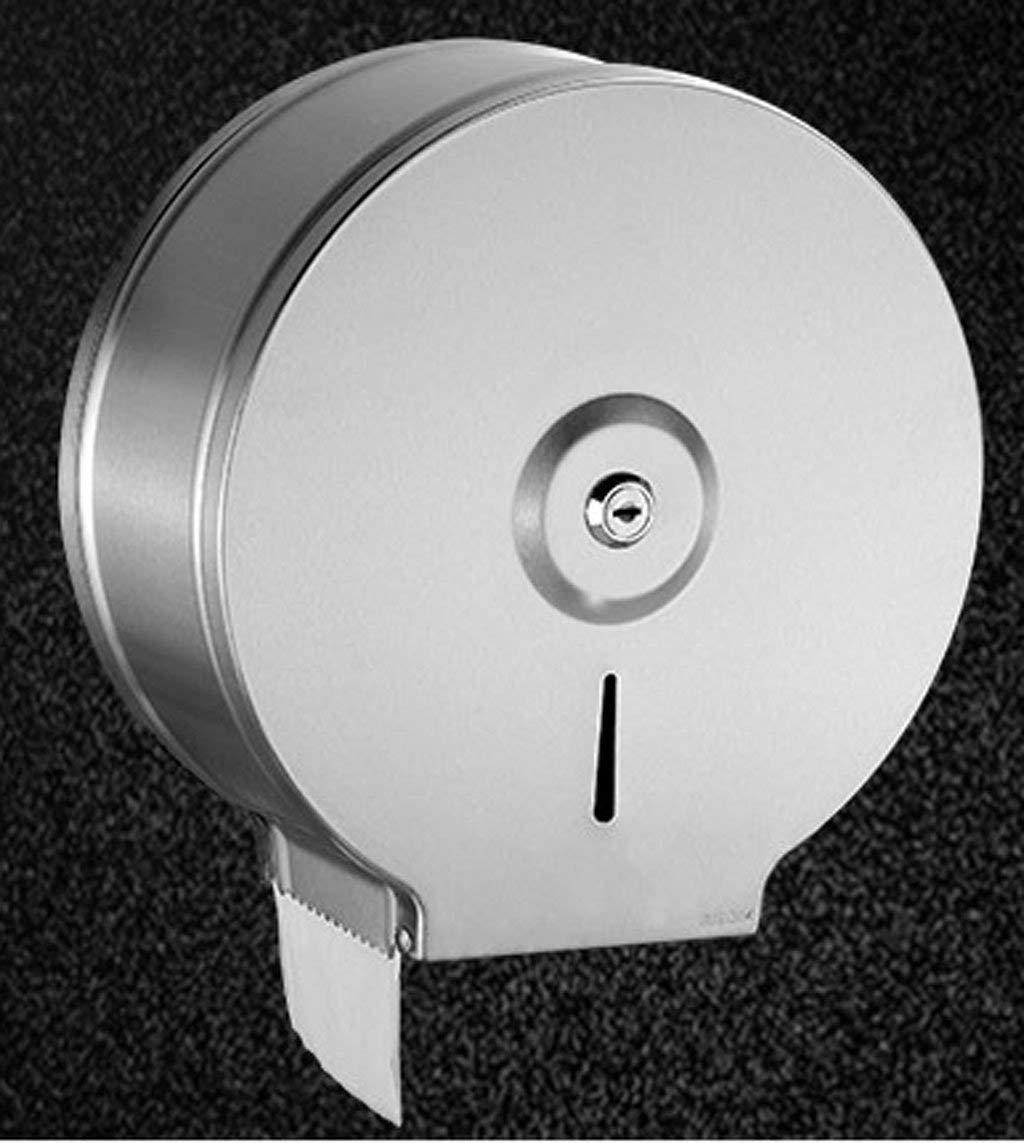 BJLWT Toilet Paper Dispenser,Stainless Steel Toilet Seat Cover Dispenser-9.8'' Wall Mount Roll Toilet Tissue Paper Dispenser Single Roll Brushed finish