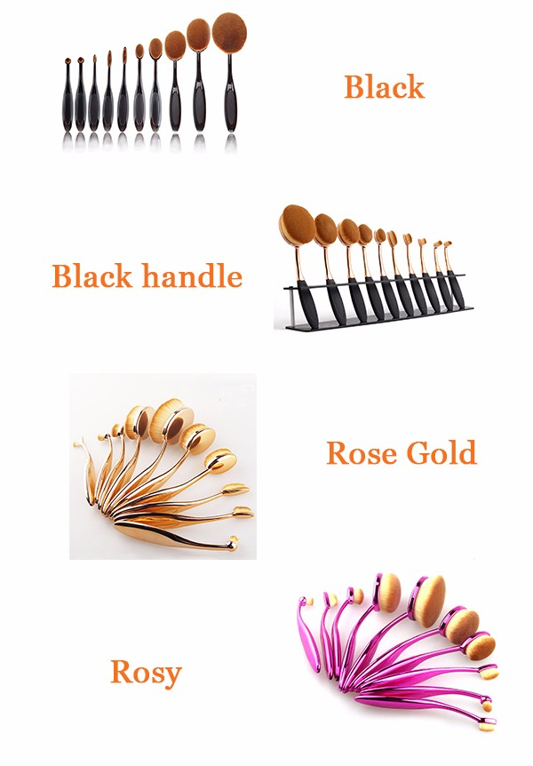2017 best selling products Custom LOGO Fish makeup brush professional cosmetic brush Pirvate Label oval makeup brushes