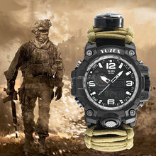 KongBo Outdoor G5 YUZEX Multifunctionele <span class=keywords><strong>Paracord</strong></span> Weven 50 m Waterdichte Survival <span class=keywords><strong>Horloge</strong></span>