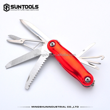 Multi-purpose 8 in 1 foldable camping outdoor pocket knife