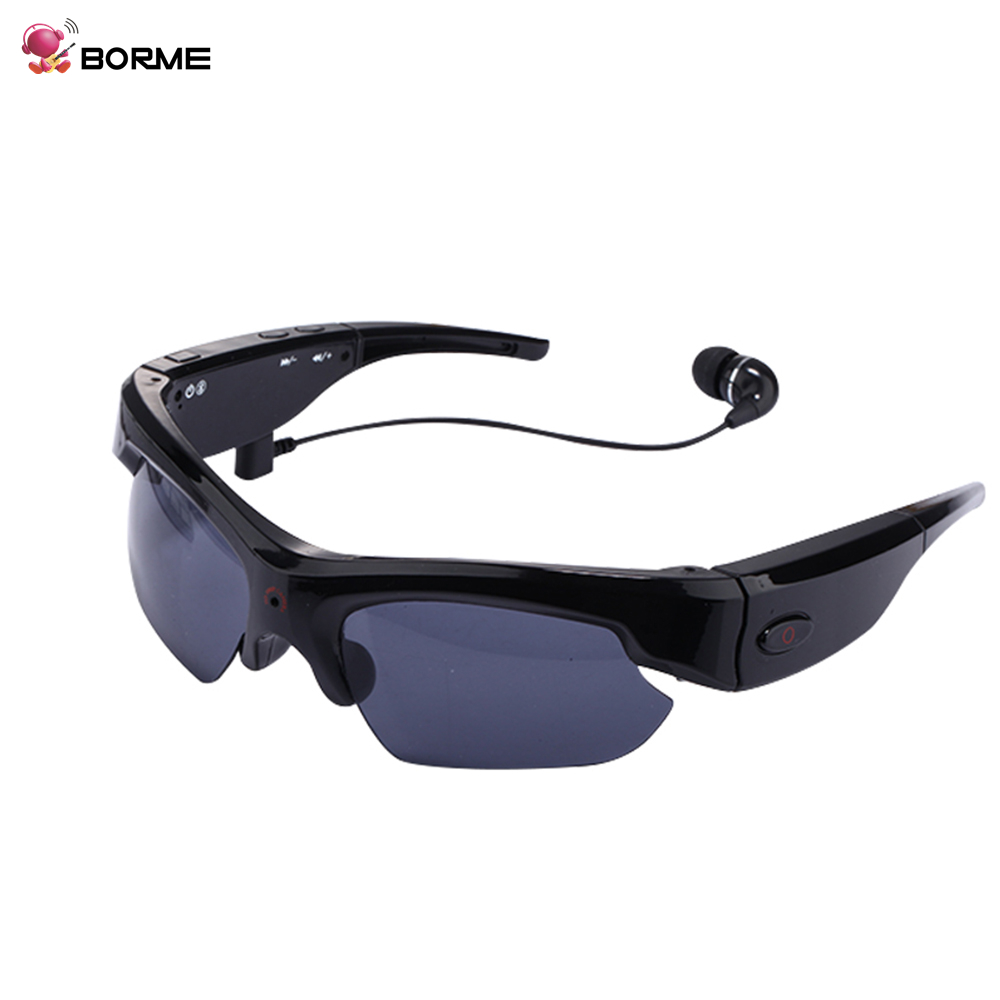 32GB Sunglasses Camera outdoor activities Eyewear DVR Camcorder 1080P Wireless Hidden Spy Camera Mp3 player headset sunglasses