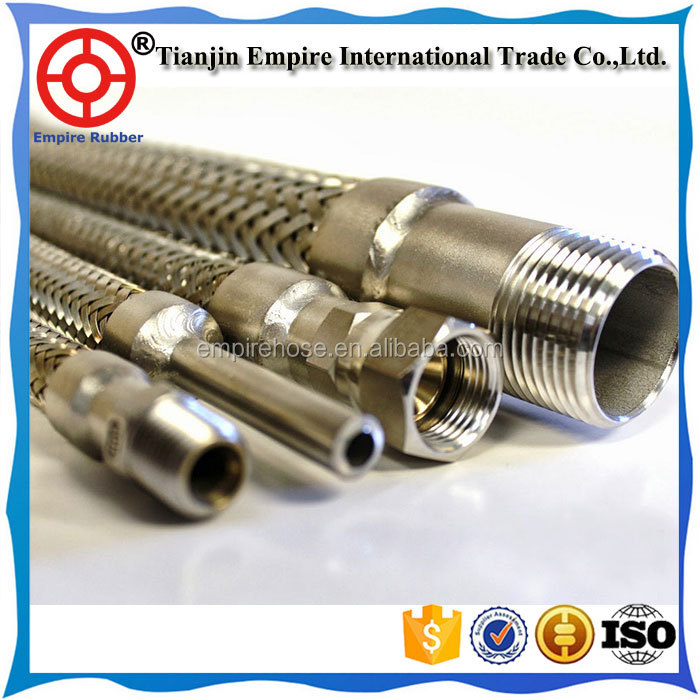 Metal reinforced Hose / Stainless Steel Braided Hose / Heat Resistant Gas Hose China top ten selling products high quality PT