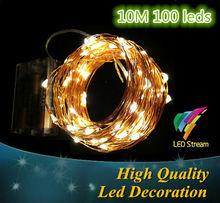Vánoční světýlka 10 m, 100 LED světýlek na AA baterie