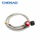 CSA 20PSI high Pressure Gas stove Parts LPG Regulator Stainless steel hose