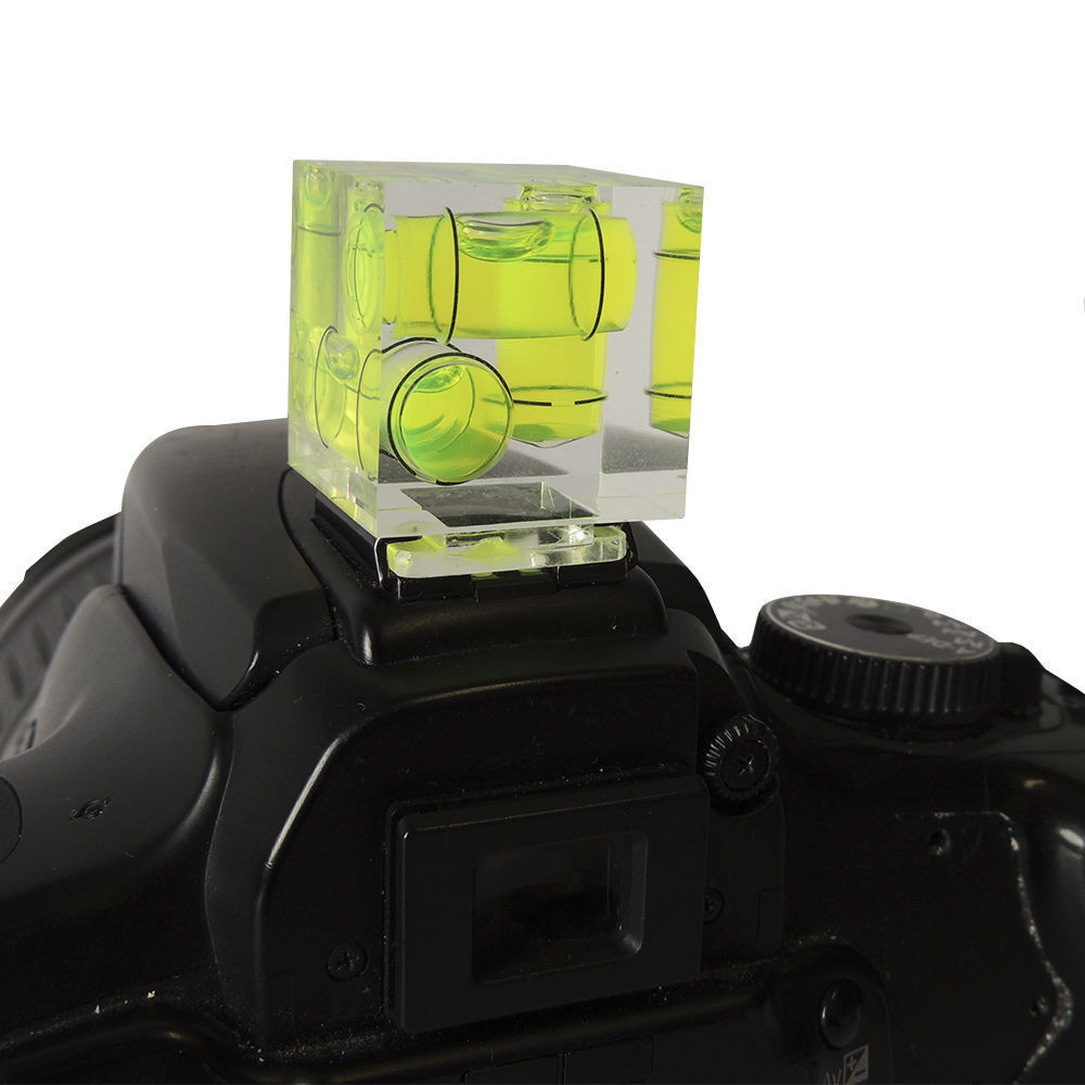 3 Axis Hot Shoe Spirit Level Triple Bubble Level For Camera