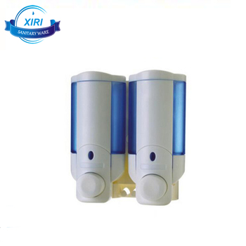 Abs Plastic Wall Mounted Hand Liquid Soap Shampoo Dispenser With Two Holes Xr8240